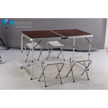 Mobiliário de Campismo -Aluminium Camping Table & Chair Set