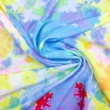Новая ткань с однотонным принтом из искусственного шелка New Tie Dye