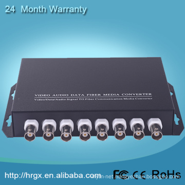 8 channel digital video audio fiber optical multiplexer Transmitter Receiver with Reverse Data