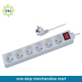 6 Way International Universal Power Socket Outlet