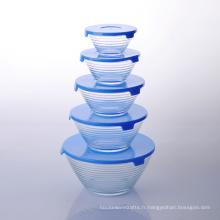 Bol à rangement empilable en verre de 10 pièces Imperial Home