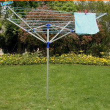 4-Arms Garden Umbrella Aluminium Rotary Clothes Airer
