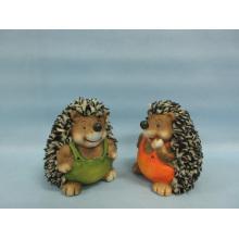 Hedgehog Forma Artesanato de cerâmica (LOE2537-C11)