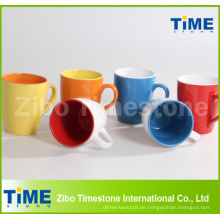 Steinzeug-Farbe glasierte Kaffeetassen