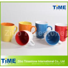 Stoneware Color Glazed Coffee Mugs