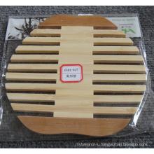 (BC-M1006) Handmade Natural Bamboo Pear Shape Heat Insulation Mat