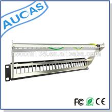 """Panel de conexión AMP 110 / Krone idc / Dual cat5e cat6 / 24 puertos blindados 19 """"Panel de conexión de montaje en rack UTP 1U"""