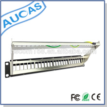 "AMP 110/Krone idc/Dual cat5e cat6 patch panel /24 port shielded 19"" UTP 1U rack mount patch panel"