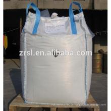 Duffle Top, Auslauf unten / pp Jumbo Tasche / 1000kg Super Sack / pp große Tasche 1ton / Rund PP FIBC Bag (für Sand, Salz, Zucker) ZR5