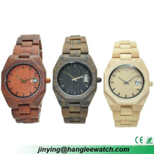 Relógio principal de madeira do calendário do relógio da produção do OEM