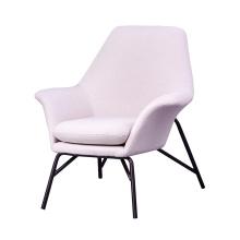 Modern Hotel Living Room Furniture Velvet Fabric Armchair Metal Gold Black Legs Chair