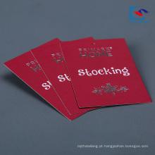 Etiqueta barata feita sob encomenda barata do cair da roupa do papel especial da fábrica