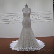 XF1118 модных показах шампанское плюс Размер свадебное платье с длинным платье