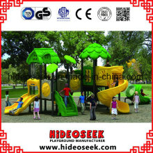 New Design Outdoor Playground Plastic Slide with Swing for Children
