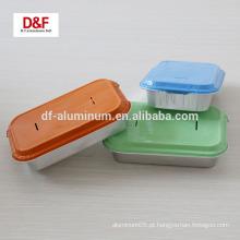 Bandeja de papel de alumínio de fast food / recipiente com tampas