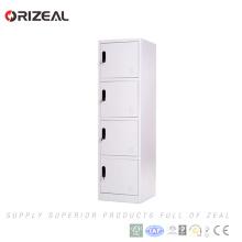 Vente d'usine d'Orizeal 4 étudiants d'école porte casiers en acier d'armoire (OZ-OLK008)