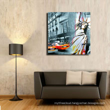 New York Street Oil Painting,Standard Wrapped Canvas Painting ,Wall Decor