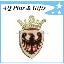 Imitación de esmalte duro de la solapa pin insignia con la insignia de impresión (badge-041)
