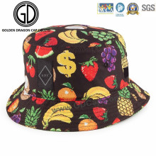 New Fashion Colorful Fruits Banana Strawberry Grape Bucket Hat