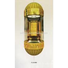 FJZY Ascenseur panoramique / visuel avec voiture circulaire, 1.0m / s, 1000kg, 1500kg