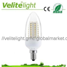 LED candle lamp 4.5W, 3528 SMD, transparent cover
