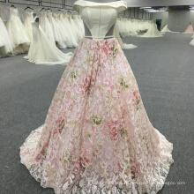 Элегантный сияющий с плеча розовый вечернее платье WT202