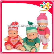 Plastic cute baby doll vinyl doll for baby toy