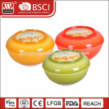 plastic salad bowl with lid 0.35L 0.82L 1L