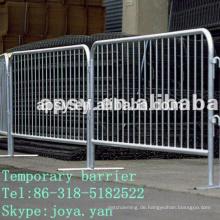Temporäre Barriere