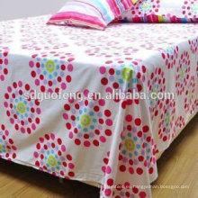 Sistemas del sábalo del algodón Telas de algodón impresas / sistema de bedsheet de la impresión de la flor / algodón de la tela