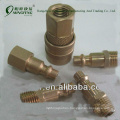 "USA 5pc. 1/4"" brass usa type quick coupling milton type"