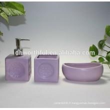 2016 Hot sale 3 pièces de toilette set accessoires de toilette en céramique