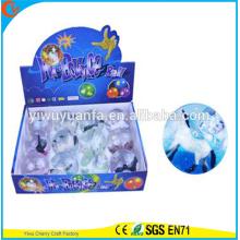 Новинка дизайн детские игрушки 65мм резиновая лошадь светодиодный мигающий свет вверх надувной мяч