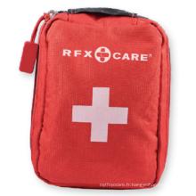 Trousses de premiers soins avec sac souple rouge