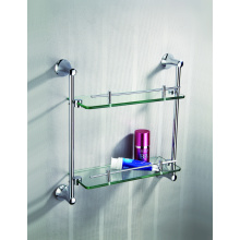 Estante de toalla de vidrio de alta calidad de doble capa
