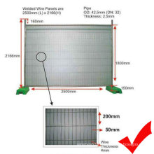 Galvanized Temporary Fence with Strong Feet