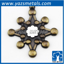 custom antique brass plating ornament with logo requirement