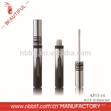 2015 New Deisgn Aluminium Argent Avec Fenêtre Rond Tube Lipgloss