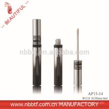 2015 Nova Deisgn Alumínio Prata Com Janela Lipgloss tubo redondo