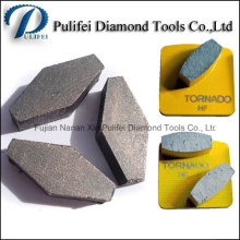 Segment de meulage de plancher de pointe de segment de métal de Hexagon diamant