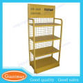 floor standing lubricating oil bottle metal display rack