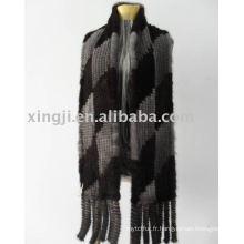 Wholesale tricoté écharpe de fourrure de vison