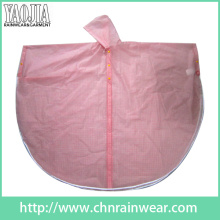 Yj-6129 Pink Women Toddler Work PVC Plastic Rain Cape Ponchos Gear