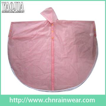Yj-6129 Pink Women Toddler Work PVC Plastic Rain Cape Ponchos Gear