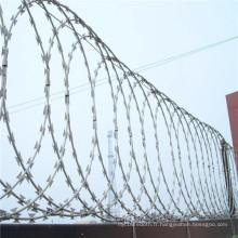 Fil barbelé à simple rasoir galvanisé pour clôture