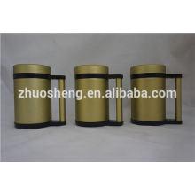 mejor vender el artículo por mayor doble pared acero inoxidable cerámica taza de café