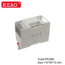 Клеммная колодка на DIN-рейку Промышленный блок управления PIC485 Корпус для электроники на DIN-рейке пластиковый корпус размером 110 * 50 * 70 мм