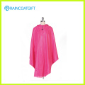 100% Polyester Rain Poncho with PVC Hood for Biker