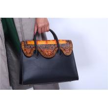 Handgemachtes Rindleder Damen Handtasche Platin Original