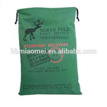 Bolso reutilizable de la Navidad de la lona del algodón barato al por mayor 2017 para los regalos promocionales